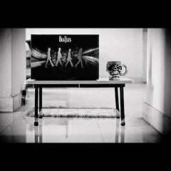 316/365. Abbey Road. (Anant N S) Tags: blackandwhite bw music coffee monochrome vintage table 50mm blackwhite cool dof song laptop grain abbeyroad coffeemug vignette eyepatch thebeatles pirateskull coolpicture project365 laptopskin nikond3000 lensor anantns thelensor anantnathsharma thebeatleslaptopskin coollaptopskin coolcoffeemug