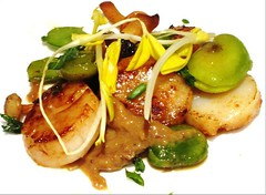 Scallops and Fava Beans