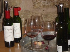 A few of the wines from tasting at Chateau Lafleur