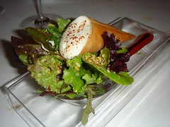 Cordeillan-Bages Course 14 Goat Cheese salad