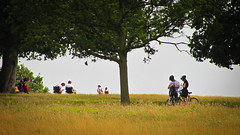 Richmond and Park 12-08-12 - 04 (garryknight) Tags: people london bike bicycle canon cyclist richmond powershot cycle creativecommons richmondpark lightroom sx220hs