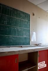 Workroom - Robin Hood Grain Elevator - Port Colborne, Ontario (ChrisReilley) Tags: ontario canada abandoned factory grain math chalkboard grainelevator urbex