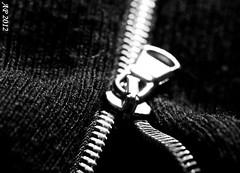Chemins d'acier / Steel ways (Anne_FR) Tags: steel zipper cloth zip acier vêtement fermetureéclair tirette