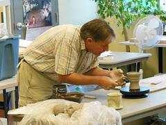 Bruce Cochrane, ceramics workshop (chasdobie) Tags: ontario canada nikon ceramics ottawa pottery brucecochrane shenkmanartscentre