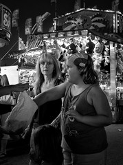 Mother and Daughter - D7K 8738 ep gs (Eric.Parker) Tags: blackandwhite bw toronto gambling girl monochrome daughter mother fair games cne doughnut africanamerican amusementpark rides midway 2012 overweight canadiannationalexhibition