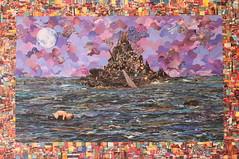 Uma Outra Ilha - Colagem de Silvio Alvarez (Silvio Alvarez - Collage) Tags: art collage de arte environmental e com papel colagem recycle awareness reciclagem oficinas recortes criatividade ambiental ecologica sustentvel
