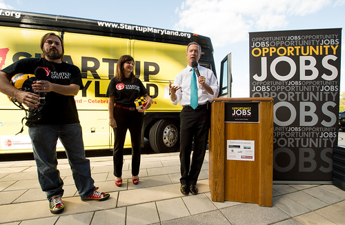 Kickoff Pitch Across Maryland Bus Tour