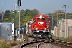 CP 6254 East in Genoa,Illinois on 9/25/2012. (soo6000) Tags: railroad train illinois genoa cp 272 sd60 6254