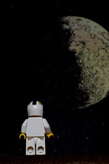 Looking at the moon (le cabri) Tags: moon macro look nikon looking lego character astronaut tintin draw strobe herg d600 strobist cactustriggers
