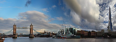 Between the showers, London (Stephen Laverack) Tags: bridge sky london tower rain thames skyline clouds towerbridge river hmsbelfast showers shard se1 morelondon
