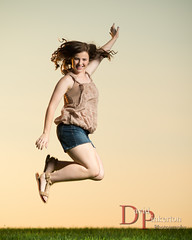 G.M. 2013 (David Pinkerton) Tags: sunset portrait female jumping plm seniorportrait strobist cybersync singhrayvarind einstein640 nikkor85mmf14g vagabondmiini