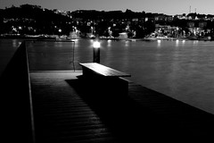 Doca (MeloPeter) Tags: street luz rio night docks river lights seats bancos noite docas