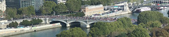 Techno Parade Crossing Pont d'Austerlitz From Tour Zamansky, Paris (IFM Photographic) Tags: panorama paris france canon 70300mm tamron 5th stitched 5e 5me 75005 technoparade tamron70300mm pontdausterlitz parisvi 450d tamron70300mmf456dildmacro tourjussieu journeseuropennesdupatrimoine 5tharrondisment tourzamansky jussieucampus europeanheritageweekend untitledpanorama2 pierreandmariecurieuniversity arondisment