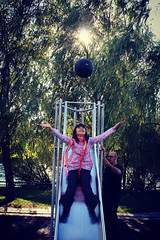 Ins e Pili (mariag.) Tags: parque verde portugal maria pili coimbra setembro 2012 ins pilota transhumant