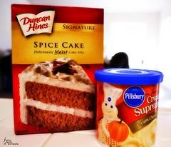 Spice (Jessica DiPaola) Tags: autumn fall halloween cake cheese pumpkin cupcakes baking cinnamon spice cream bakery icing duncan pillsbury hines doughboy