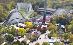 Mini Kings Island (godpasta) Tags: ohio vortex rollercoaster kingsisland racer faketiltshift woodenrollercoaster fakeminiature windseeker steelrollercoaster