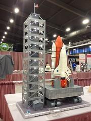 Space Shuttle Cake (RDPJCakes) Tags: sculpture cake 3d 2012 fondant ossas 3dsculptedcake oklahomastatesugarartshow rdpjcakes