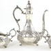 Lot 2052.  Unger Brothers Three Piece Sterling Demitasse Set