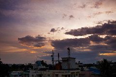 Sunset 2nd Oct  | Bangalore (@k@sh) Tags: sunset 35mm canon landscape october awesome 2nd f2 akash btm 5dmark2