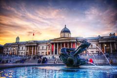 National Gallery (almonkey) Tags: london fountain statue museum photoshop nikon central trafalgarsquare nationalgallery handheld postprocess hdr d800 28mmf18 civicarchitecture photomatix hyperrealist freeentry 5xp nikond800