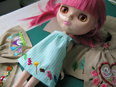 Candy (Helena / Funny Bunny) Tags: doll blythe custom velvetminuet sbl reroot smocks funnybunny candypink sewingfactory