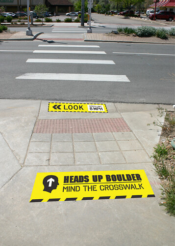 Photo - Heads Up Crosswalk Treatments