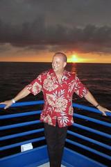 My Big Brother (BarryFackler) Tags: ocean sunset sea vacation sky sun clouds fun island hawaii polynesia evening bay boat ship sundown dancing brother horizon vessel entertainment pacificocean bigisland railing watercraft kona 2012 kailuakona alohashirt motorvessel konacoast hawaiicounty konahawaii hawaiiisland kailuabay westhawaii northkona spiritofkona barryfackler barronfackler chuckfackler blueseacruises mvspiritofkona
