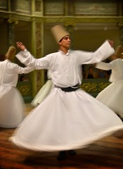 Sufi whirling (Roy Cheung Photography) Tags: portrait people white turkey circle dance worship meditate dancing islam spin prayer ceremony istanbul surround spinning meditation sema sufi sufism vignette sama islamic dervishes whirling mevlevi taṣawwuf تصوّف صُوفِيّ
