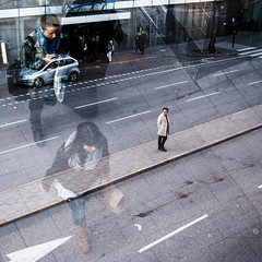 Dagens foto - 365: Watching Alice (petertandlund) Tags: street city people urban woman man walking square crossing sweden stockholm doubleexposure small watching large streetphotography 365 transparent sthlm nickcave 08 norrmalm 365365 hojd stphotographia streetpassionaward fotosondag fs121007