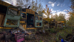 Abandoned School Bus - II.jpg (Bob's Corner) Tags: cimetiere vieillesvoitures stamable
