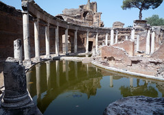 """Maritime Theater,"" Hadrian's Villa, view of moat looking left"