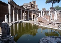 """Maritime Theater,"" Hadrian's Villa, view of moat looking left"