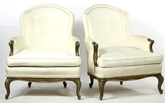 26. Pair of French Bergere Chairs