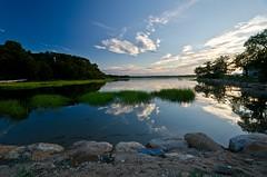 Reflections on the Harbor (Digital World of Paul) Tags: sunset ny newyork beach water clouds landscape photography li harbor sand nikon rocks stonybrook longisland liny stonybrookharbor 1024mm d7000 nikond7000 nikon1024mm retinaresolution lensblr