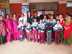 CONCERN, Principal, teachers, and sponsored students.JPG (The Advocacy Project) Tags: asia kathmandu nepal concernnepal bricks2books education childlabor childrights earthquake children childhood trabajoinfantil travaildesenfants advocacyproject betterbricks bhaktapur donate