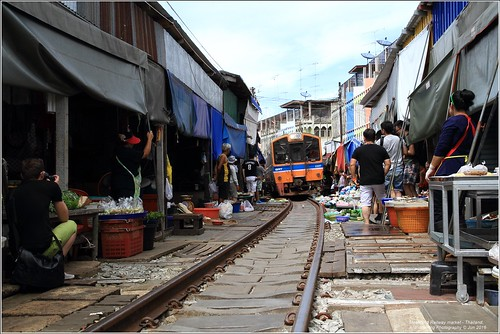 Maeklong Train Market - Thailand