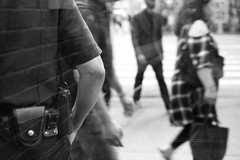 L1002379 (kogh65) Tags: life street camera new leica york city nyc travel people white ny man black reflection art field photography 50mm mono photo focus artist image outdoor pov manhattan candid young picture police nypd m depth tone reportage 2016 kogh kogh65