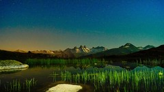 Les aiguilles d'Arves (Armand Rochas) Tags: moon mountain lake nature water beautiful night stars long exposure hiking milkyway bivouac