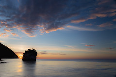 Adagio ... (gio_off_line_for_a_while) Tags: lanotteeilmare seascape sunrise clouds sky sun quiet atmosphere love