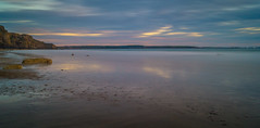 Still/Motion (dolbinator1000) Tags: druidston haven pembrokeshire wales uklong exposure cloud clouds cloudy summer san sandy rock rocks rocky golden blue hour dusk twilight