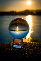 _MG_0376 (AdamFejes) Tags: glass globe glassglobe pointofview light sun summer blackandwhite bw colour city budapest danube sunset