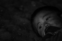 My EYE (itthiphan seephong) Tags: blackandwhite eye bw boy laos culture documentary