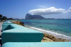 gibraltar (van1o) Tags: spain andalusia gibraltar sky clouds sea blue brown
