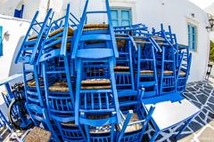 Blu Paros (Fabio75Photo) Tags: sedie cataste ristorante paglia bianco blu paros grecia isola