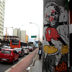 São Paulo, Brazil (PSYCO ZRCS 10/12) Tags: sticker stickers stickerart stickerporn stickerlife stickerculture street art artist slaps slap tagging bombing worldwide brazil psyco garde vinyl grilled pole graffiti