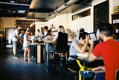 Sunday at The Brew & Brew (-Dons) Tags: austin texas unitedstates wrightbrosbrewbrew coffeehouses tx usa flickrmeetup film
