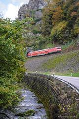 DB REGIO - Hllenbach (Giovanni Grasso 71) Tags: hllenbach db regio br143 locomotiva elettrica titisee nikon d700 giovanni grasso