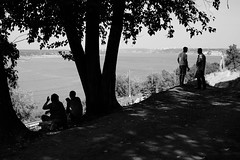 (nVa17) Tags: river water bytheriver stranger strangers people landscape summer city perm         fujifilmxt1 fujifilm 53mm street streetphoto streetphotography blackandwhite blackwhite blackandwhitephotography bnw bw