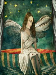 Counting Stars (jimlaskowicz) Tags: art vintage textures artistic surreal whimsical stars angel melies