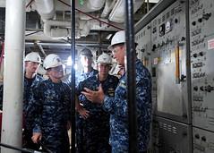 160816-N-XF387-042 (CTF 76) Tags: ussblueridge usnavy yokosuka ctf76 admiral srf edsra shiptour japan
